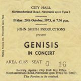 26 ottobre 1973 NEWCASTLE CITY HALL