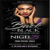 THE UPFRONT ROOM PROMO CD FOR BACK II BLACK 2018.. NIGEL B's BIRTHDAY EVENT (SAT 7TH APRIL)