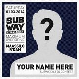 SUBWAY XL6 DJ CONTEST ENTRY - Sweepa