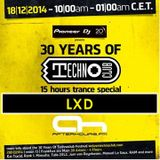 18.12.2014 - 30 Years of Technoclub Special on Afterhours FM - LXD (11:00 - 12:00 CET)
