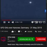 djSINyELo - UFO Orb over Hanover, Germany - 31 May 2015 5.23.2020 B-SIDE