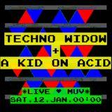 TECHNO WIDOW + A KID ON ACID --> Live @ MUV. Lisbon.Jan.2013