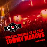 COX Live Session Tommy Marcus 13/03/2014
