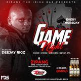 DJ RIGZ 6TH DEC GAME NIGHT THURSDAYS AT ZIPANG LOUNGE SET