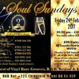 SOUL SUNDAYS 2ND YEAR ANNIVERSARY PARTY @ RNR BAR CHINGFORD 24TH FEBRUARY 2017