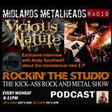 Rocking the studio interview with Andy Southwell from Birmingham legends Vicious Nature.
