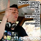 Ronski Speed LIVE From Driftwood Ibiza, 9th September 2013