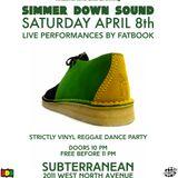 Simmer Down Sound ft Fatbook set 1 Saturday April 8, 2017 Subterranean Chicago