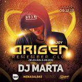 DjMarta @ OrigenRememberClub, Menasalbas (Toledo) 9.12.17