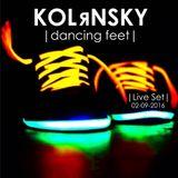 KOLяNSKY - dancing feet [Live Set @ 02-09-2016]