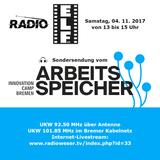 Radio E.L.F. Sendung 04. 11. 2017 - Arbeitsspeicher Innovation Camp Bremen (Teil 1)