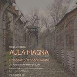 Sobrevivente do holocausto, Aleksander Laks, participará da Aula Magna do curso de Direito