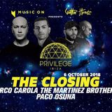 Paco Osuna @ Privilege, Ibiza [06 October 2018] MUSIC ON Closing Party 2018