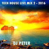Tech House Live Mix 2 - 2016 DJ Peter