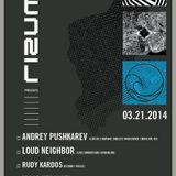 Andrey Pushkarev: Live at rizumu 03.21.2014