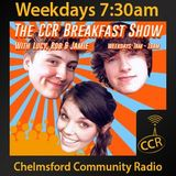 Monday Breakfast - @CCRBreakfast - Lucy, Rob and Jamie - 29/12/14 - Chelmsford Community Radio