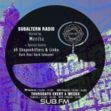 Mentha + Linko & 65 Shapeshifters (DRD Takeover) - Subaltern Radio 06/12/18 on SUB.FM