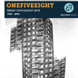 OneFiveEight 12th August 2016