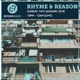 Rhyme & Reason 14th January 2018