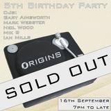 Origins 4th Set (Almost Live) 16th September 2017