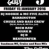 Cruise n Bass live set @ Way Too Gully 15th January 2016
