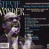 SOULSHOW IN CONCERT Vanavond Stevie Wonder Live in The Abbey Road Studio in Londen.
