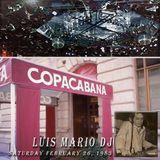 Luis Mario at The Copacabana Night Club February 26, 1983
