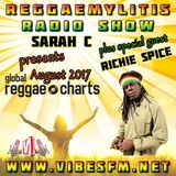 Reggaemylitis Radio Show ft Aug 17 Global Reggae Chart & special guest interview with Richie Spice