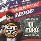 Dj Toro Prez Day Weekend mix on Hot97 NYC