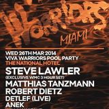 Steve Lawler - Live @ Miami Music Week 2014 WMC, Viva Warriors Pool Party, The National Hotel - 25.0