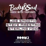 A Night @ Room 2: Body & Soul-House Music Thursdays - 5 April 2018