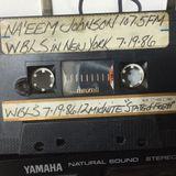 WBLS 107.5FM NAEEM JOHNSON 7.19.86