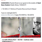 CODEZERO - Live @ Hard Bass Dealers on RCV99FM (10-16-2014 - Mixer out feed)