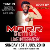 MARR LIVE ON CHOICEFM GAMBIA INTERVIEW BY DJ SPYTAL