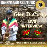Glen DaCosta live interview on Outta Mi Yard Radio