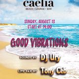 Good Vibrations - DJ Ury & Tony Ceb (sax) @ Caelia Beach
