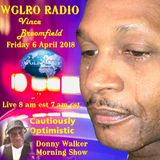WGLRO Radio with Vince Broomfield - New Release ..Cautiously Optimistic ..the DWMS  4-6-2018