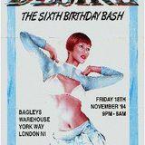 Desire 6th Birthday Bash @ Bagleys London 1994 - Kenny Ken