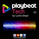 Playbeat Tech 01 - Lucho Deep! @ Bora Bora Ibiza (Summer 2014)