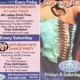 (9/11/99) LUXE - Saturday Night Dance Party DJ Cody Live on 92.7 WLIR with Andre