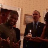 The Leader of the Free world sings Happy Birthday to....