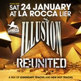 David DM at Illusion Re:United 24/01/2015 at La Rocca BACKSTAGE - 3 HOURS of the coolest music!