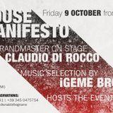 09.10.15 House Manifesto CD2 w/ CLAUDIO DI ROCCO @ EDDIE RABBIT - LEGNANO