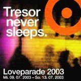 Blake Baxter @ Tresor Never Sleeps. Loveparade 2003 - Tresor Berlin - 13.07.2003