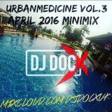 #UrbanMedicine Vol.3 April 2016 Mini Mix