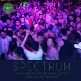 Spectrum: Live @ Eden's 1st Birthday (11.07.15) (EDM, House, Breaks)