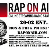 20-02 Ent. RadioShow 5-11-18 thru 5-21-18