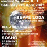 Beppe Loda - Halle Bop! @ Sosho Basement [London - UK], 07.april.2007 - Easter saturday - Live pt.1