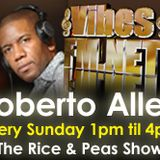 It's Rice & Peas show on www.vibesfm.net Mums & Dads oldies selection, classic Reggae plus more.