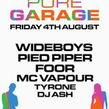 PURE GARAGE 4TH AUGUST PROMO .... THE ARCH.. BRIGHTON...BY DJ A1